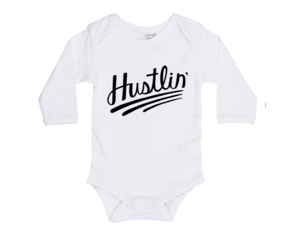 Hustlin long sleeve bodysuit • size 0000 • 1