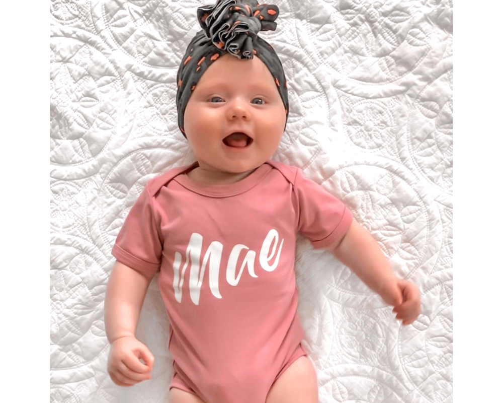Modern font personalised bodysuit