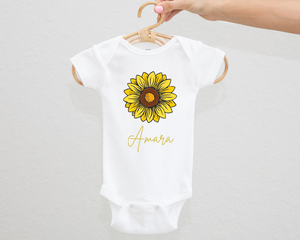 Sunflower personalised bodysuit