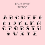 Tattoo font personalised short sleeve bodysuit | size 0000 - 1