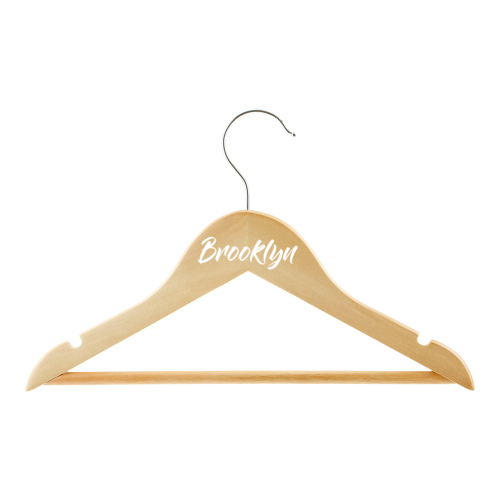 Personalised coat hanger | Modern font