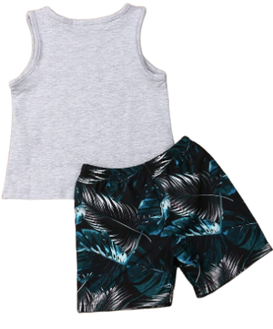 Tropical vibes singlet & shorts set | size 2 - 6