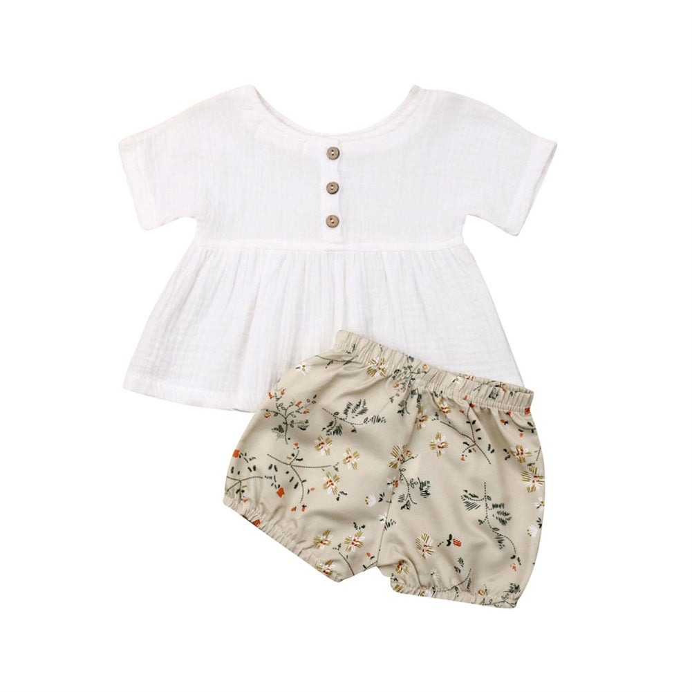 Summer top & bloomer set | size 3m - 18m