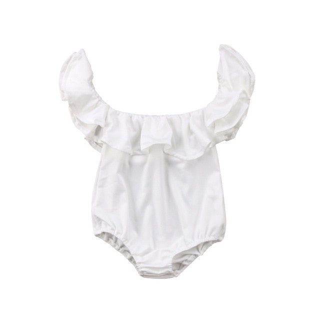 Isla off the shoulder romper | size newborn - 12m