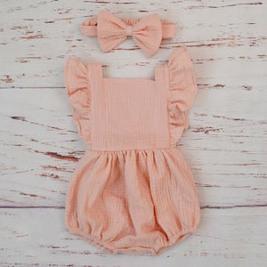 Sienna romper with matching headband | size 3m - 18m