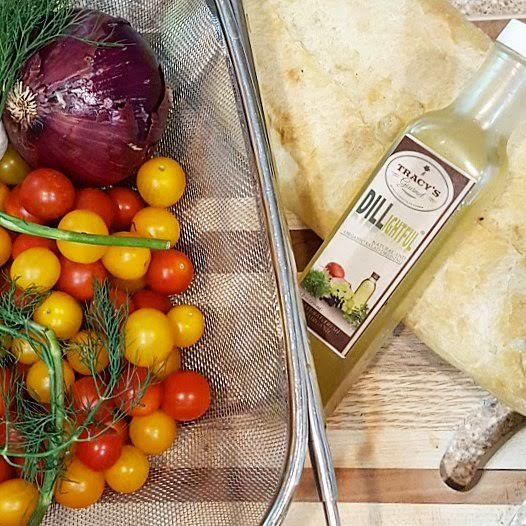 Gluten free keto paleo vegan salad dressing grape seed oil dill marinade food