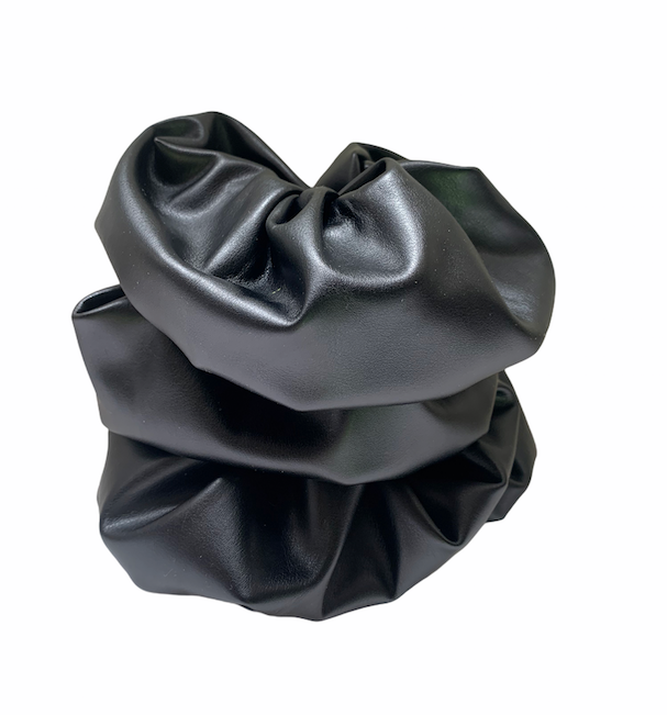 Faux Leather Scrunchy