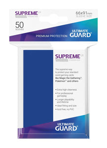 Ultimate Guard Supreme Sleeves Blue - 50 Count