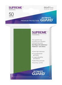 Ultimate Guard Supreme Sleeves Green - 50 Count