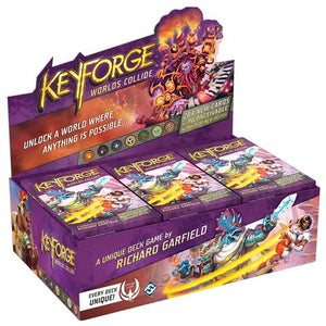 KeyForge Worlds Collide Deck Display