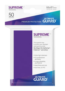 Ultimate Guard Supreme Sleeves Purple - 50 Count