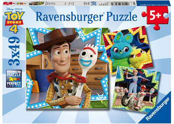 Disney Toy Story 4 Puzzles 3x49pc