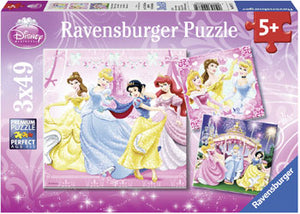 Disney Snow White Princesses Puzzles 3x49pc
