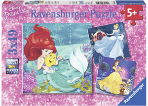 Disney Princesses Adventure Puzzle 3x49pc