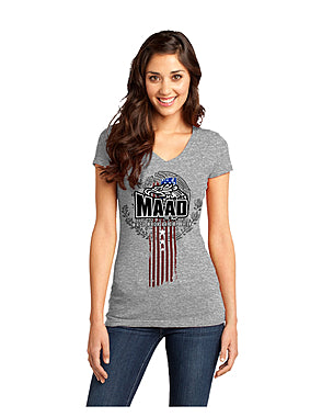 Awareness brand MAAD Mexican Against Deportation women t-shirt