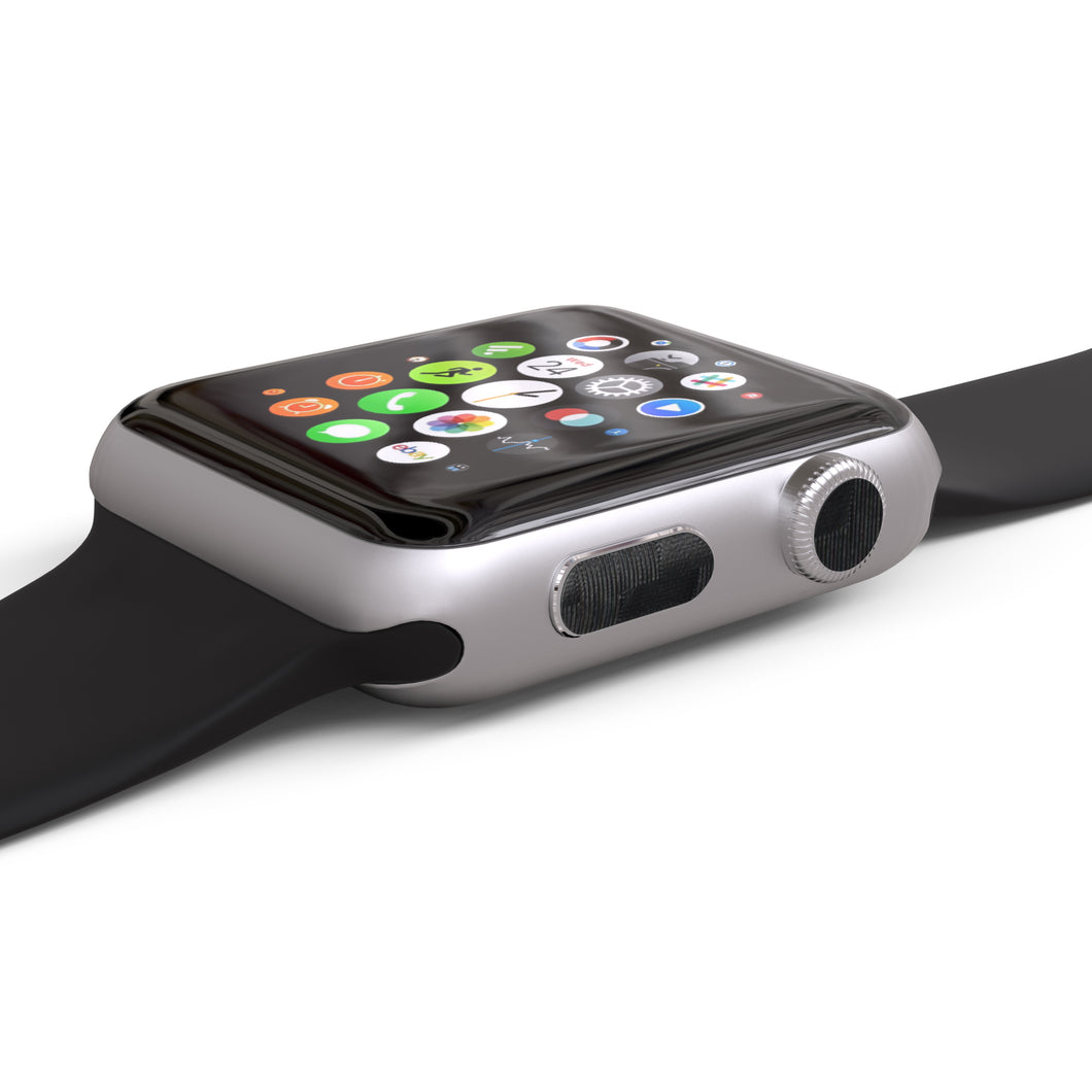 Apple Watch Button Skins 4-Pack - Carbon Fiber