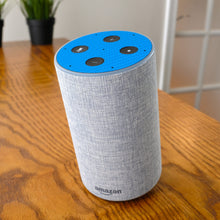 Load image into Gallery viewer, amazon-echo-carbon-blue-skin-cc-cropped