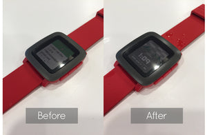 Pebble Time Matte Clear Bezel Skin