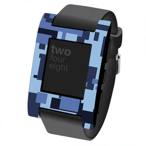 Pebble Classic Digital Camo Skins and Screen Protector
