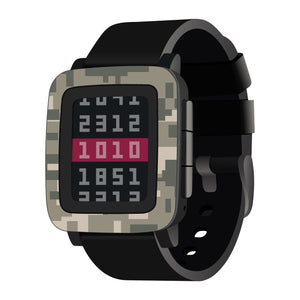 Pebble Time Digital Camo Skins