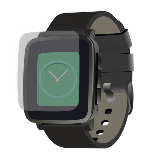 Pebble Time Steel Clear Screen Protector (2 Pack)