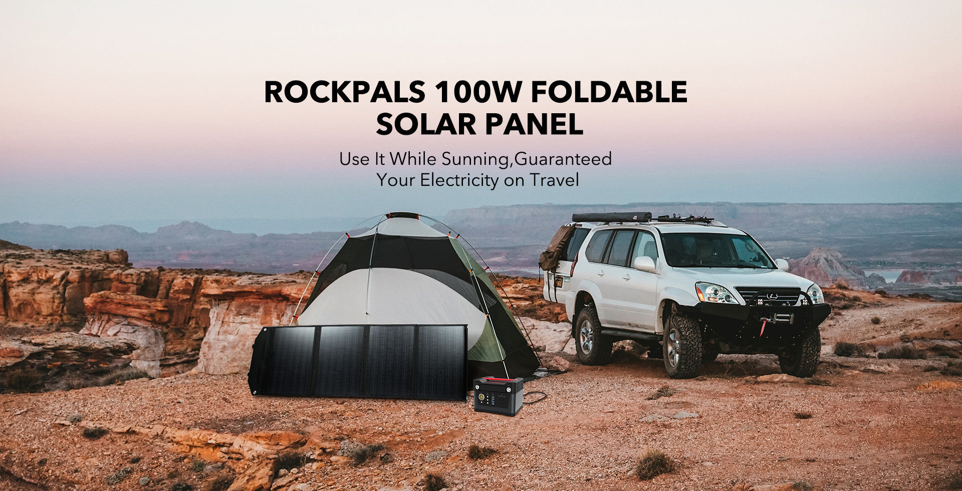 Rockpals 330W Power Station + 100W Solar Panel Kits