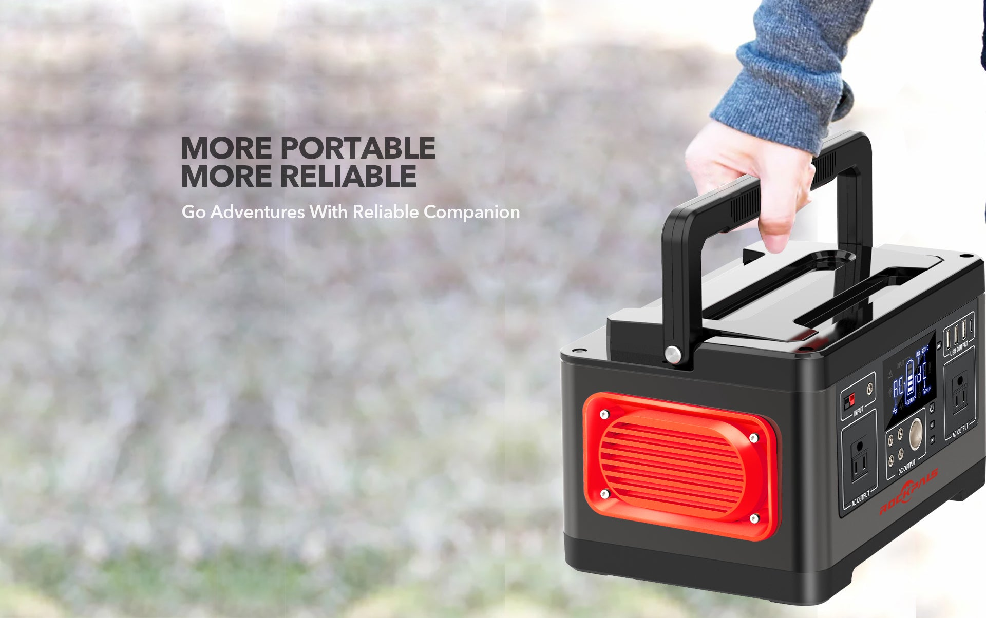 Rockpals 520WH Portable Power station 01
