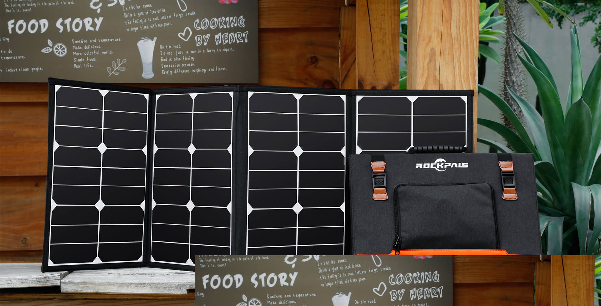 Rockpals 80W Foldable Solar Panel Charger