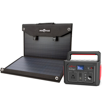 Rockpals 350W Power Station + 100W Solar Panel Kits