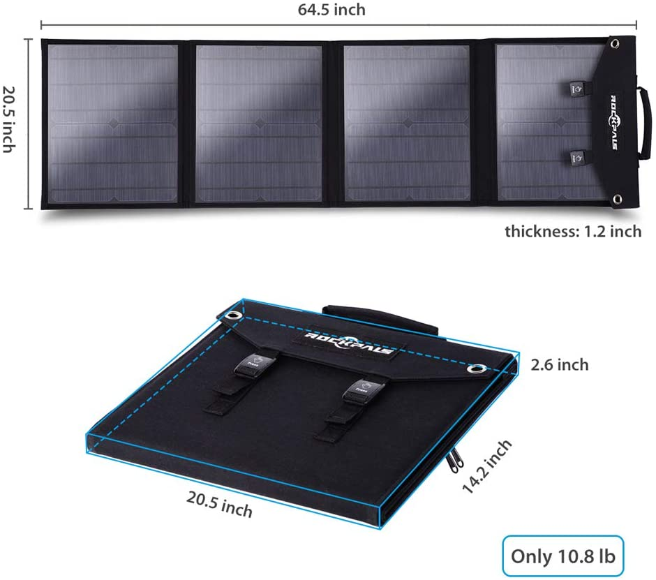Rockpals 100W Foldable Solar Panel 04
