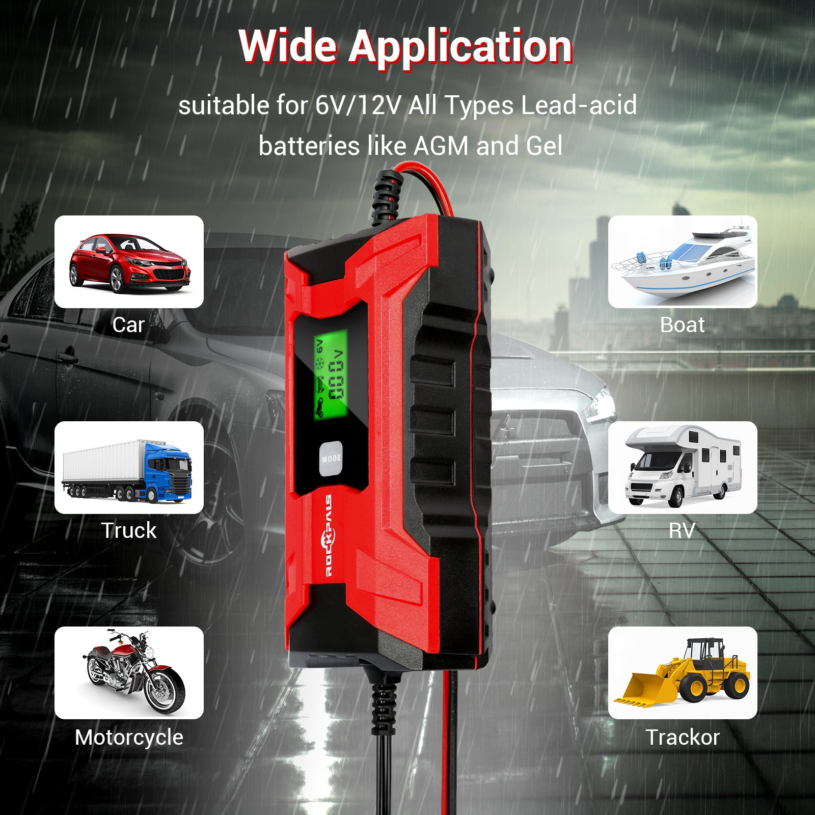 Rockpals Portable Car Battery Charger