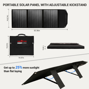 Rockpals 60W Portable Solar Panel Charger with kickstand
