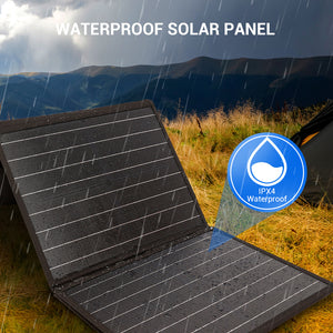 Rockpals 60W Portable Solar Panel Charger IPX4 waterproof