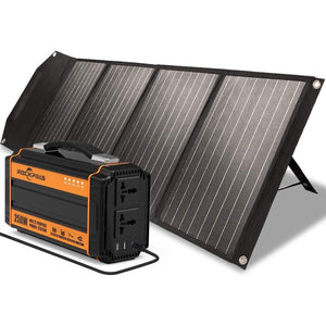 Rockpals 250W Portable Power Station + Rockpower 100W Foldable Solar Panel Kits