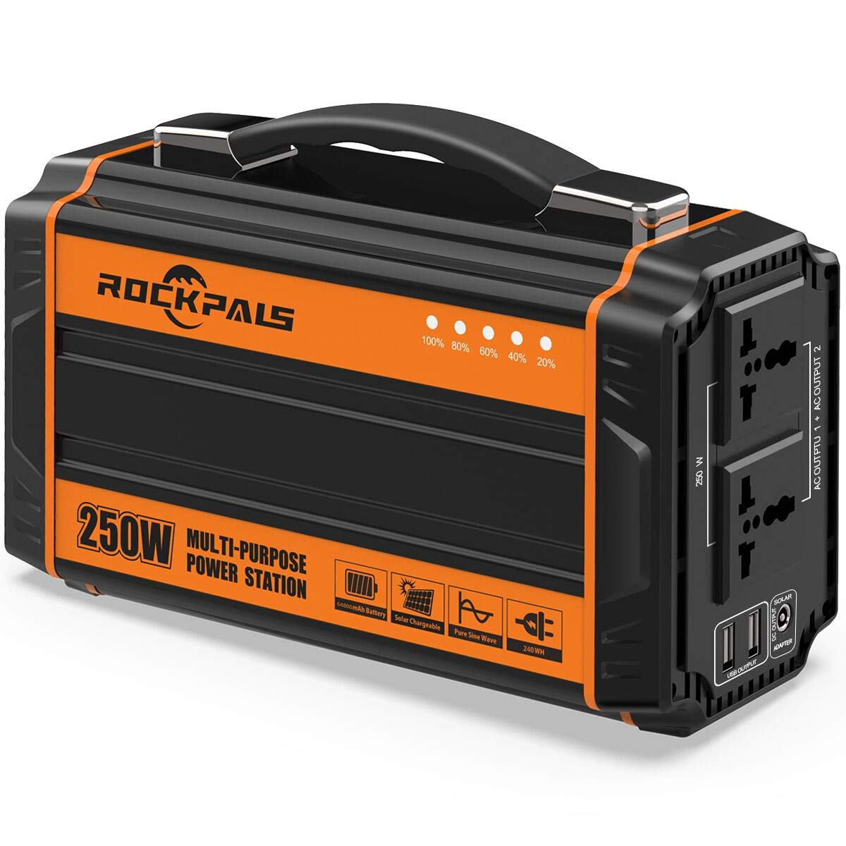 Rockpals 250W Power Station + 60W Solar Panel Kits [In Stock on May 5] - Rockpals