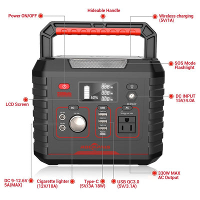 Rockpals 330W Portable Power Station - Rockpals
