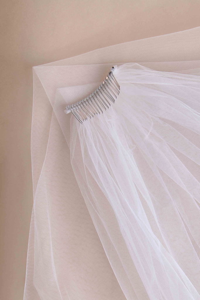 Hint of Sparkle Wedding Veil - single tier, cathedral