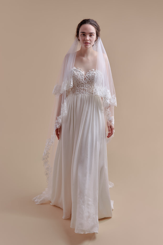 Oopsie Daisy Wedding Veil - double tier, court