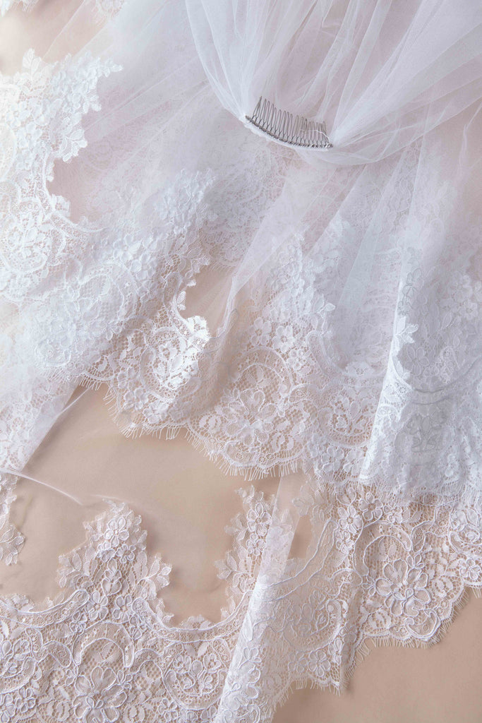 Royal Treatment Wedding Veil - double tier, fingertip