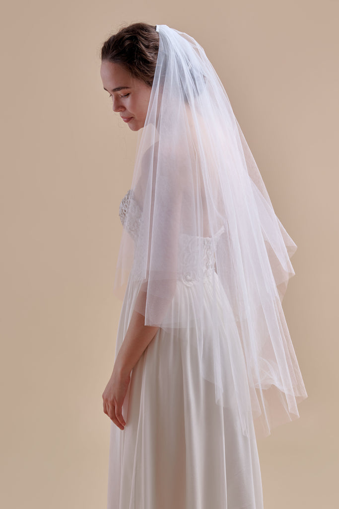 Tulle Have + To Hold Wedding Veil - double tier, fingertip
