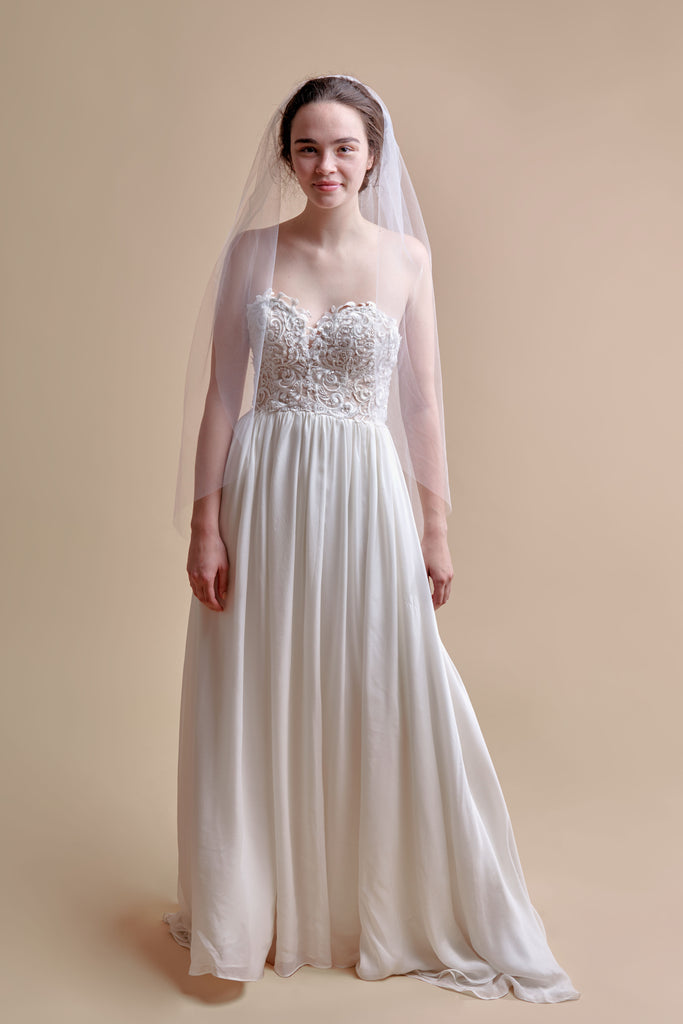 Tulle Have + To Hold Wedding Veil - single tier, fingertip