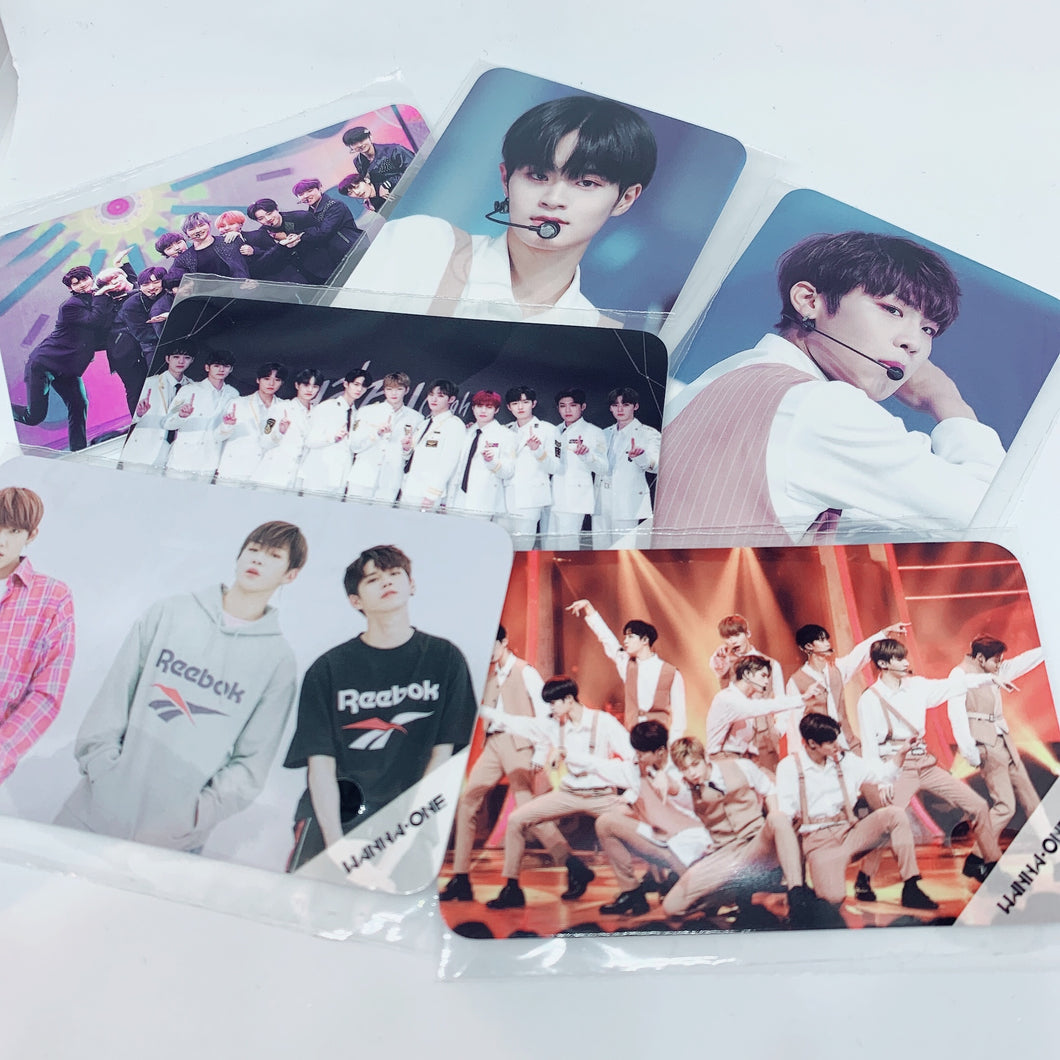 Wanna One - Message Cards / Transparent Photocards