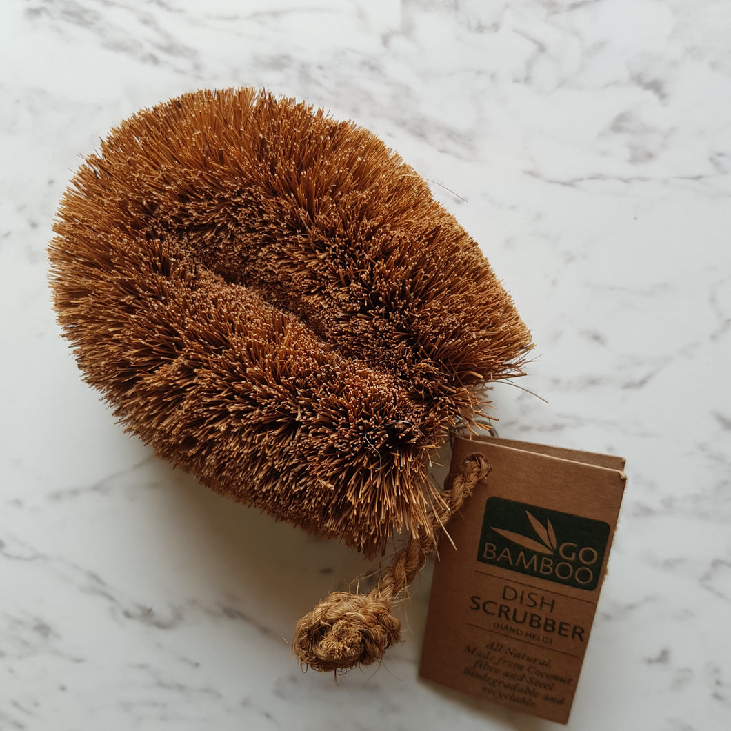 Go Bamboo Dish Scrubber - The Vale Eco Packs Eco Gift Packs and Eco Products