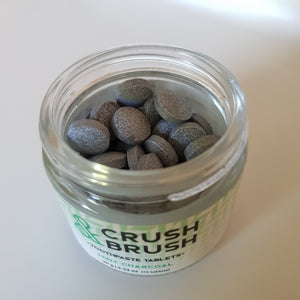 Crush & Brush Toothpaste Tablets (Mint Charcoal) - The Vale Eco Packs Eco Gift Packs and Eco Products