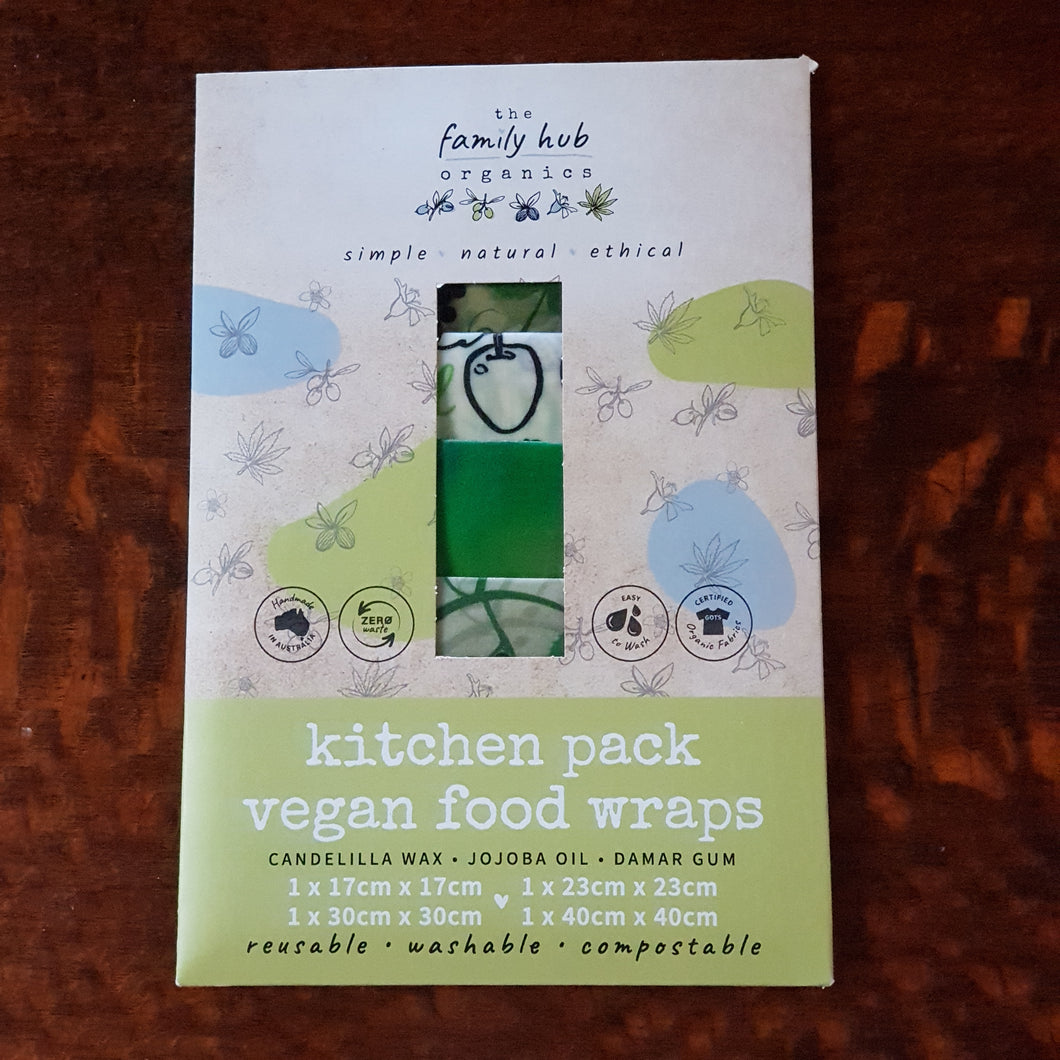 Vegan Food Wraps Kitchen Set   (4 Pack) - The Vale Eco Packs Eco Gift Packs and Eco Products