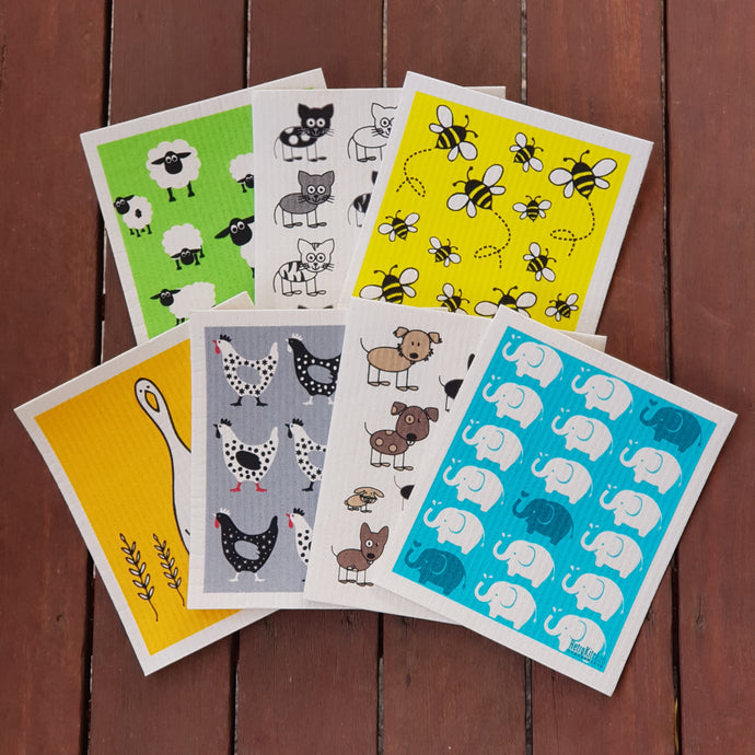 Retro Kitchen Dish Cloths - The Vale Eco Packs Eco Gift Packs and Eco Products