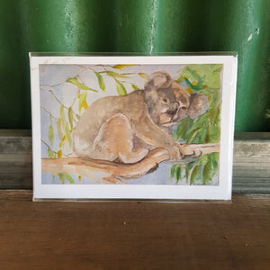 IKPS Hand Painted Card - Koala Green - The Vale Eco Packs