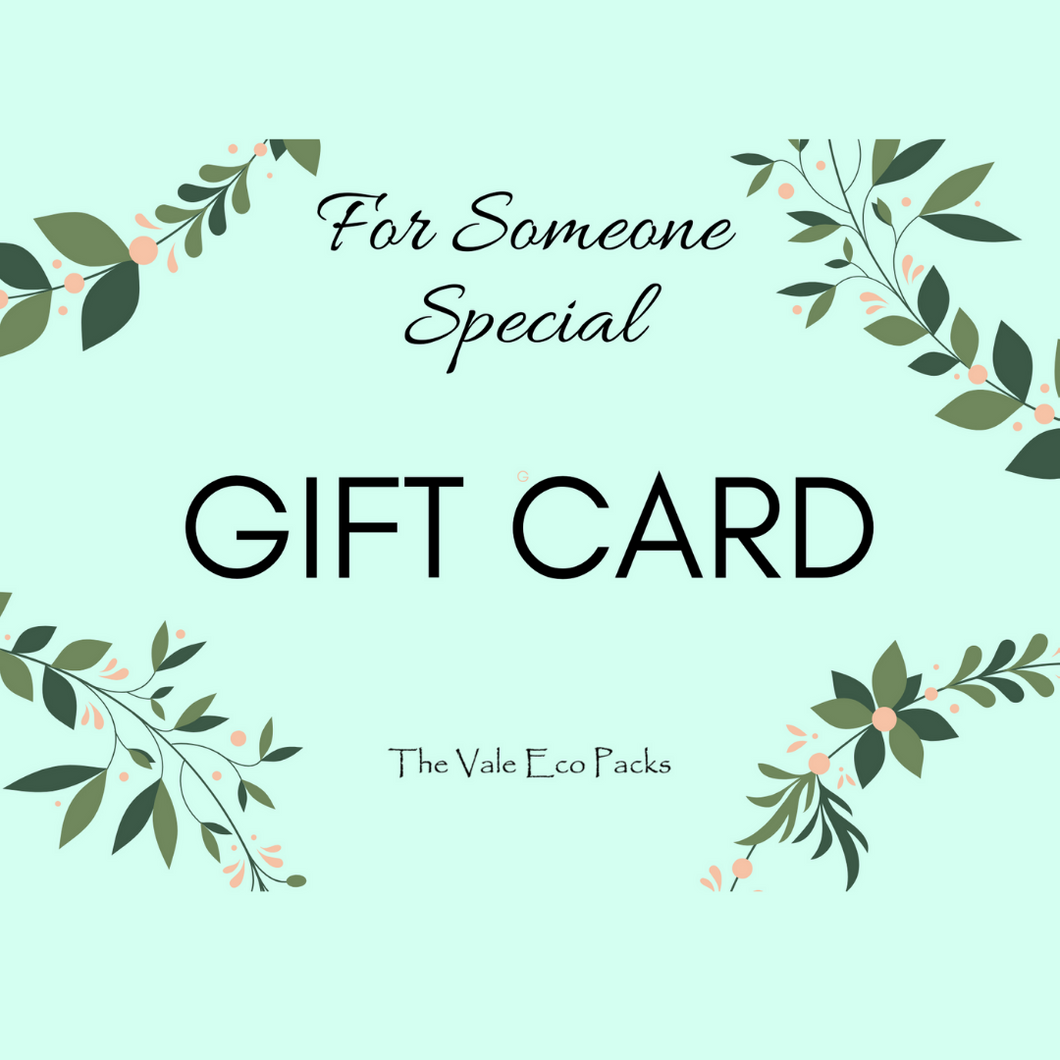 Gift Cards (starting at $10.00) - The Vale Eco Packs