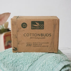 Go Bamboo Cotton Buds - The Vale Eco Packs Eco Gift Packs and Eco Products