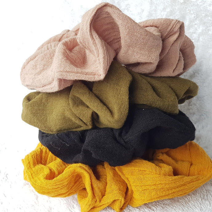 HoozHoo Cheesecloth Scrunchies - The Vale Eco Packs Eco Gift Packs and Eco Products